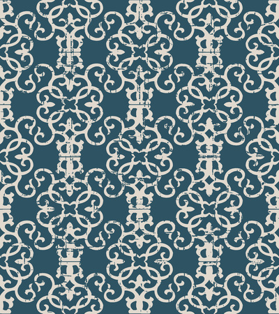 Worn out antique seamless background Spiral Vortex Curve Cross Frame Vine, Ideal for wallpaper decoration or greeting card design template.