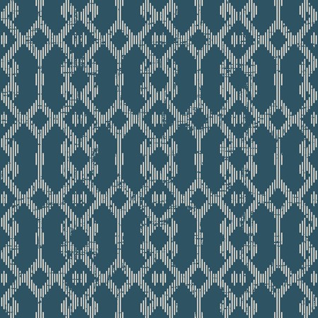Worn out antique seamless background Mosaic geometry Cross Check Frame. Ideal for wallpaper decoration or greeting card design template.