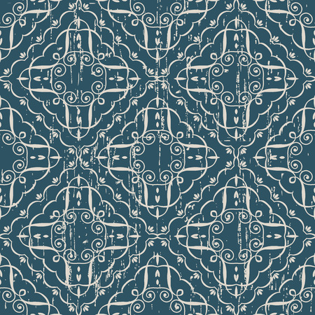 Worn out antique seamless background Check Curve spiral Vortex Cross Frame Vine, Ideal for wallpaper decoration or greeting card design template.