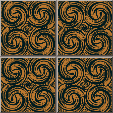 Ceramic tile pattern Spiral Vortex Cross Wave, oriental interior floor wall ornament elegant stylish design