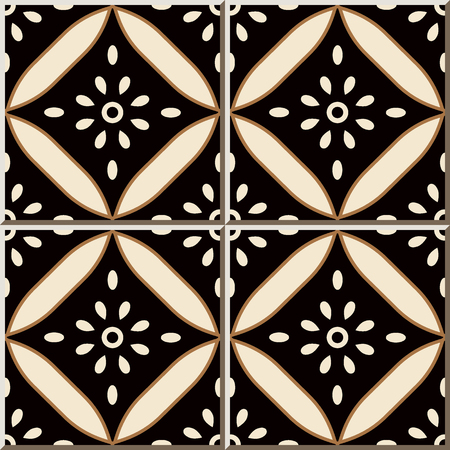 Ceramic tile pattern Curve Cross Round Frame Flower, oriental interior floor wall ornament elegant stylish design