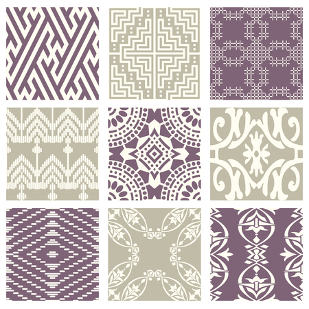 Classic vintage elegant pastel violet seamless abstract pattern, antique oriental design for background image.