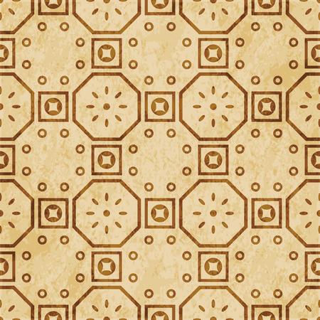 Retro brown cork texture grunge seamless background Polygon Square Round Frame Flower