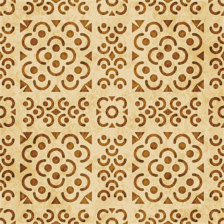 Retro brown cork texture grunge seamless background Round Curve Cross Flower Square Line Stock Illustratie