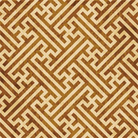 Retro bruin kurk textuur grunge naadloze achtergrond Geometry Cross Maaswerk Frame Vector Illustratie
