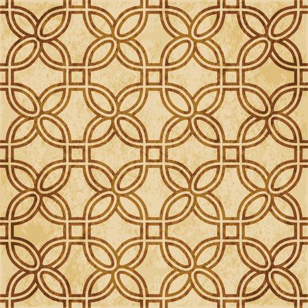Retro brown cork texture grunge seamless background curve round corner square frame Stock Illustratie