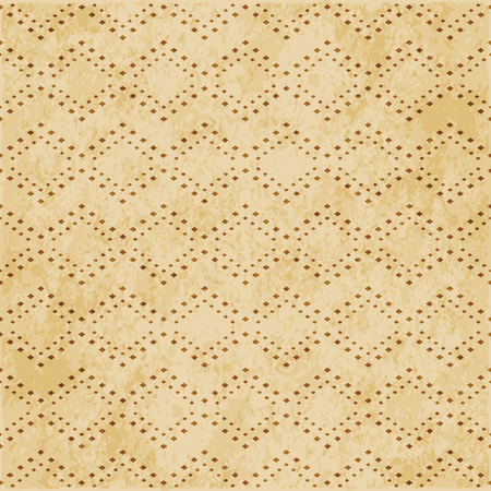 Retro brown cork texture grunge seamless background Square Mosaic Check Ross Line