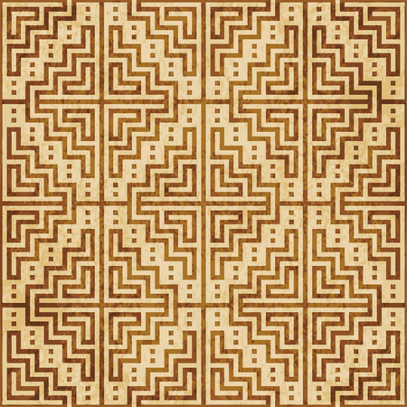 Retro brown cork texture grunge seamless background mosaic pixel square geometry cross frame
