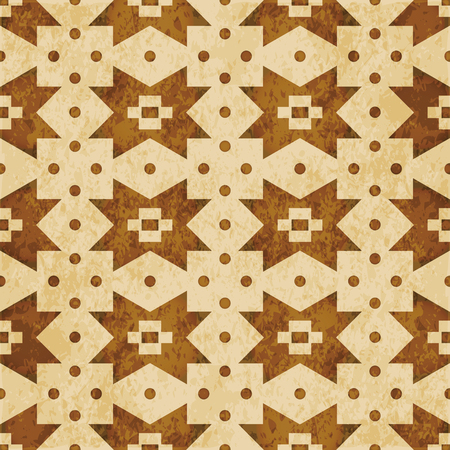 Retro brown cork texture grunge seamless background Geometry Cross Square Check Dot