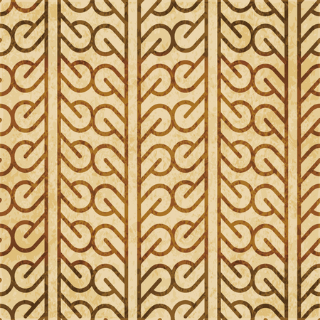 Retro bruin kurk textuur grunge naadloze achtergrond Curve Round Cross Maaswerk Frame Line