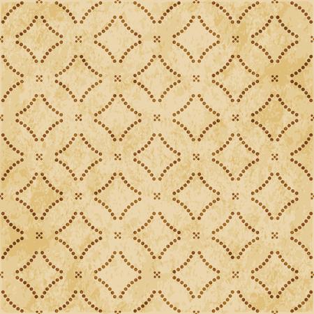 Retro brown cork texture grunge seamless background Round Curve Dot Cross Line