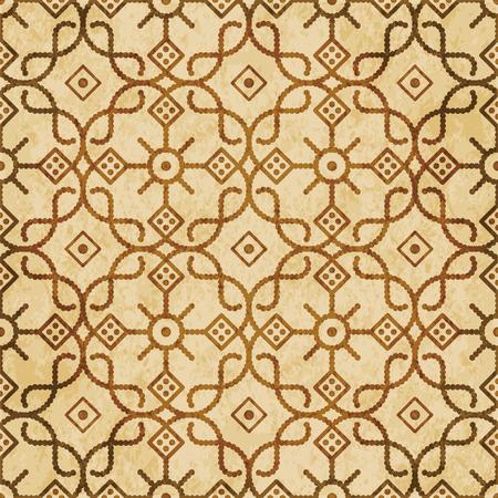 Retro brown cork texture grunge seamless background Curve Check Cross Round Dot Line Frame Flower