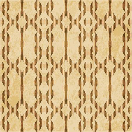 Retro brown cork texture grunge seamless background Mosaic geometry Cross Check Frame