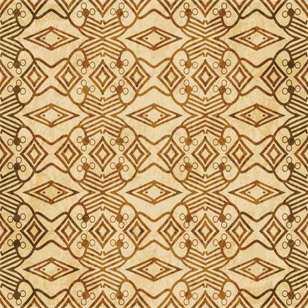 Retro brown cork texture grunge seamless background Check Cross Aboriginal Geometry Line