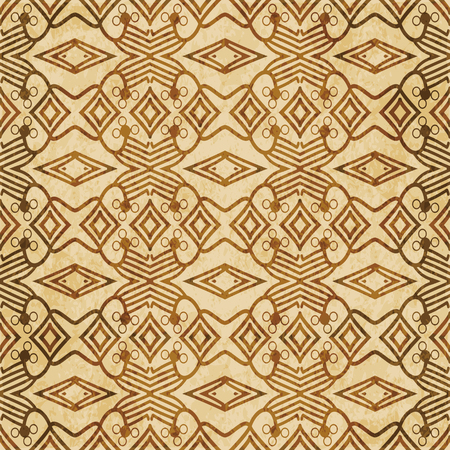 Retro brown cork texture grunge seamless background Check Cross Aboriginal Geometry Line