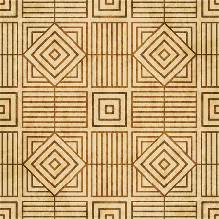 Retro brown cork texture grunge seamless background Square Check Spiral Cross Frame Line Illustration