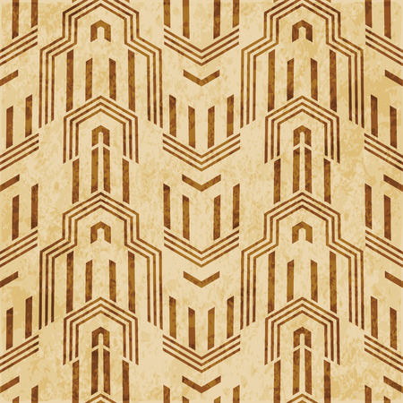 Retro brown cork texture grunge seamless background polygon geometry arrow cross frame
