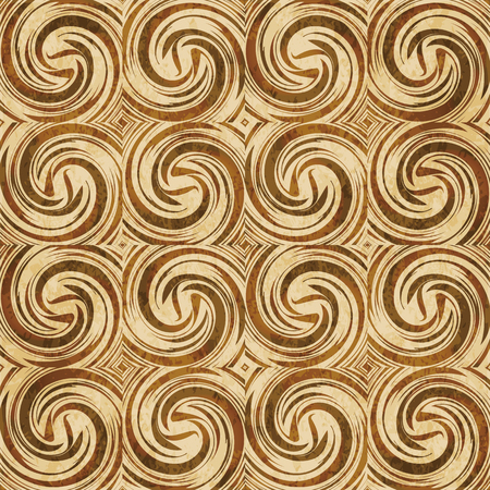 Retro brown cork texture grunge seamless background Spiral Vortex Cross Wind Swirl Wave Illustration