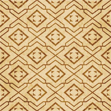Retro brown cork texture grunge seamless background Star Geometry Check Spiral Cross Frame Stock Illustratie