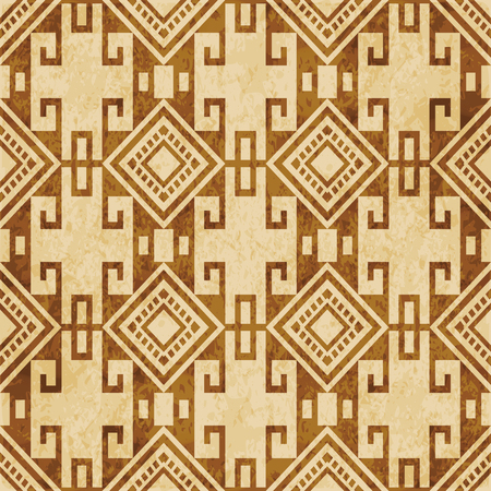 Retro brown cork texture grunge seamless background check square spiral cross geometry