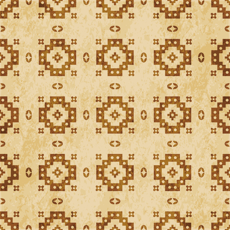 Retro brown cork texture grunge seamless background Square Round Check Geometry Cross