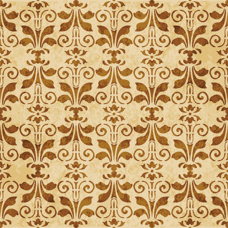 Retro brown cork texture grunge seamless background curve spiral vortex leaf flower