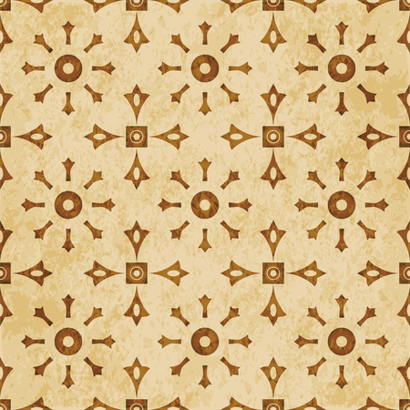Retro brown cork texture grunge seamless background Round Cross Square Frame Flower Stock Vector - 103577219