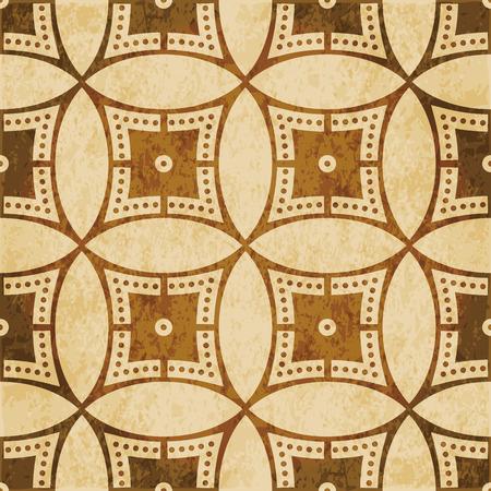 Retro brown cork texture grunge seamless background Round Circle Cross Frame Dot Line