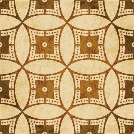 Retro brown cork texture grunge seamless background Round Circle Cross Frame Dot Line