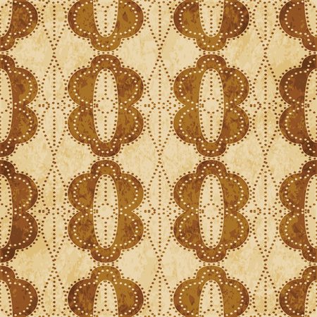 Retro brown cork texture grunge seamless background Curve Cross Round Oval Dot Line Frame Иллюстрация