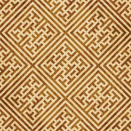 Retro bruin kurk textuur grunge naadloze achtergrond selectievakje vierkant kruis maaswerk frame