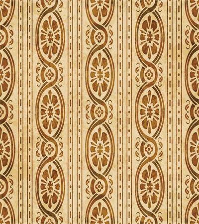 Retro brown cork texture grunge seamless background curve cross spiral frame flower vine line