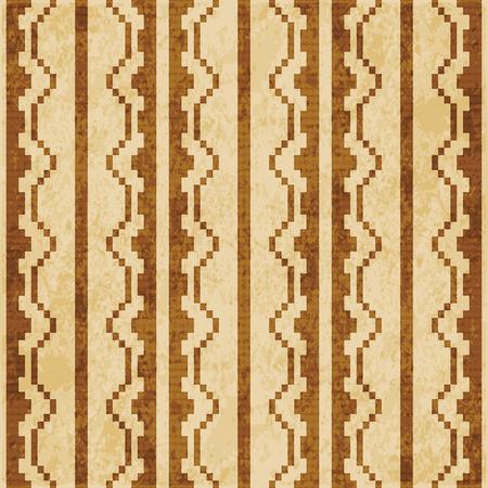 Retro brown cork texture grunge seamless background mosaic pixel polygon geometry frame