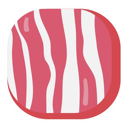 Delicious breakfast round ocrner square icon bacon