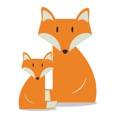 Vector nursery cute wild mammal animal fox Banque d'images - 112041941