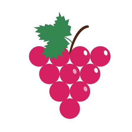 Healthy organic red grape, colorful tropical nature fresh fruit objects. Illusztráció