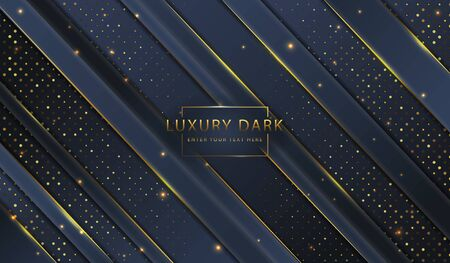 Abstract golden luxury elegant dark website banner template background image Ilustracja