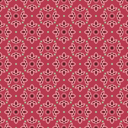 Retro vintage Chinese traditional pattern seamless background curve cross flower kaleidoscope 일러스트