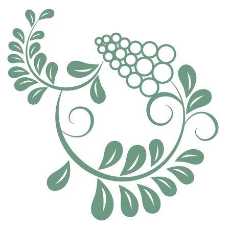 Oriental isolated pattern object botanic garden grape plant