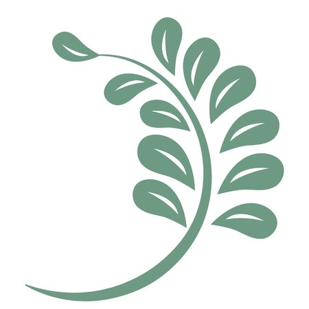 Oriental isolated pattern object botanic garden plant leaf 일러스트