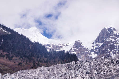 Meili snow Mountain also know as Kawa Karpo located in Yunnan Province, China 写真素材