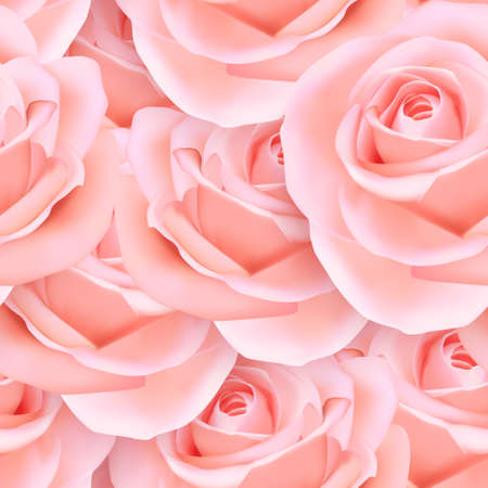 Elegant seamless background of pink romantic rose flower 向量圖像