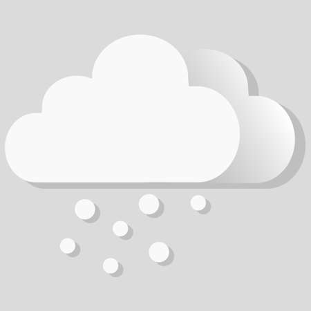 Isolated vector object weather icon snow  イラスト・ベクター素材