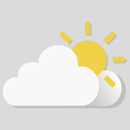 Isolated vector object weather icon Sunny, partly cloudy  イラスト・ベクター素材