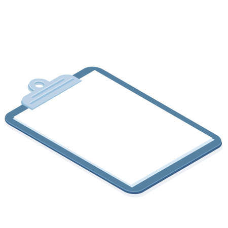 Cartoon isolated object paper document clipboard