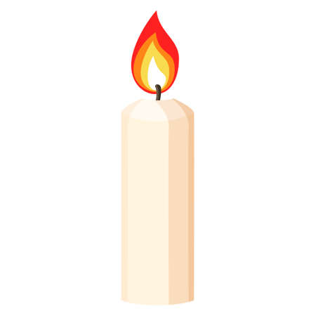 Isolated spa therapy treatment object illustration candle  イラスト・ベクター素材
