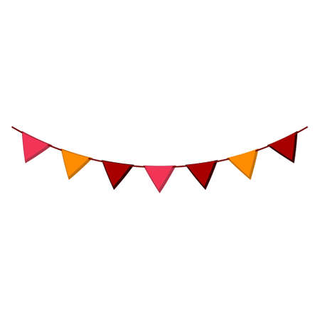 Cartoon vector illustration isolated object happy celebration flags Иллюстрация