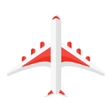 Cartoon vector illustration isolated object airplane from Aerial perspective  イラスト・ベクター素材
