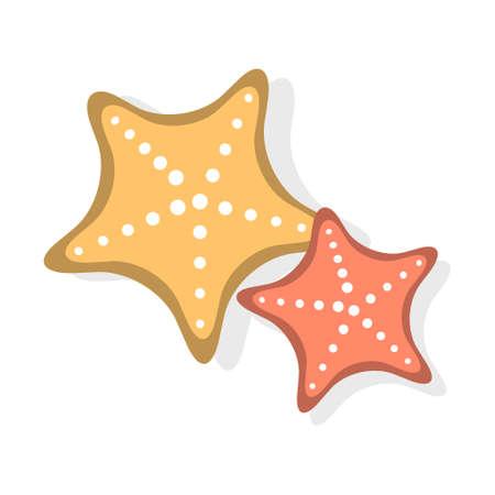 Cartoon vector illustration isolated object sea starfish  イラスト・ベクター素材