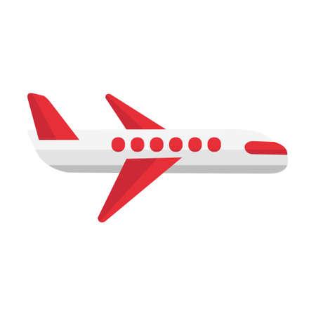 Cartoon vector illustration isolated object transportation airplane